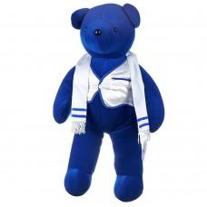 Игрушка Плюшевый медведь North American Bear (Синий медведь / Белая жилетка / Шарф), 52 см х 30 см