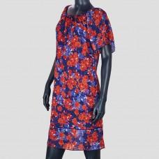 Платье SIGNATURE COLLECTION (Фиолетовый/ Морковный/Цветочный принт)