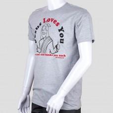 Футболка David and Goliath (Серый/Jesus Loves You)