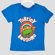 Комплект: футболка и штаны NICKELODEON (Голубой/Цветная полоска/ Turtley Awesome)