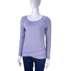 Спортивная кофта APANA Yoga Lifestyle (Белый/Синий/Полоска)
