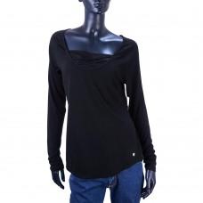 Спортивная кофта с декоративным вырезом APANA Yoga Lifestyle (Черный)