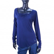 Спортивная кофта с декоративным вырезом APANA Yoga Lifestyle (Синий)