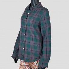 Рубашка с длинным рукавом TROVATA (Клетка/Серый/Зеленый)