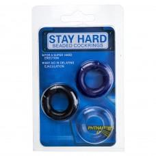 Мужские кольца для эрекции STAY HARD (3 ед\цветные)