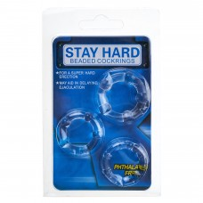 Мужские кольца для эрекции STAY HARD (3 ед)
