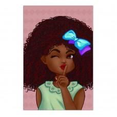 Картина девочка на розовом фоне (60х90см)