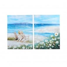 Модульная картина (Пляж/море/2части/45x60)