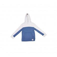 Батник с капюшоном на флисе OLD NAVY (серый\синий)