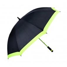 Зонт трость (чёрный\желто-зеленый)