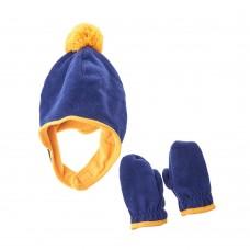 Набор шапка/варежки OLD NAVY (синий\желтый)