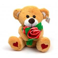 Мягкая игрушка Медведь с букетом красных роз