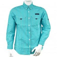 Рубашка муж Simply Southern (голубая клетка)