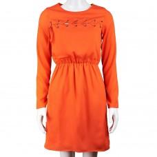 Платье LOVE SEWN (оранжевый)