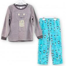 Пижама флисовая Carter's Late Night Snacker (серый\мятный\йети)