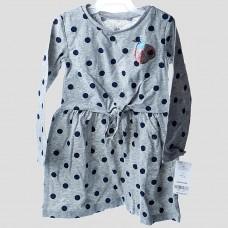 Платье  Carter's (серый\горох)