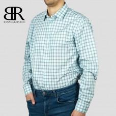 Рубашка BANANA REPUBLIC (белый\зелёный\синий\клетка) slim fit
