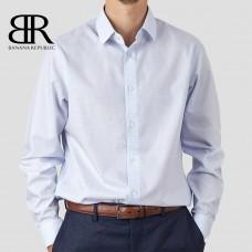 Рубашка BANANA REPUBLIC (голубой\мелкая клетка) standard fit