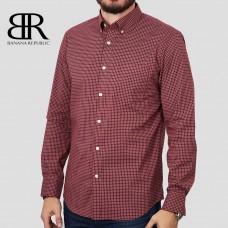 Рубашка BANANA REPUBLIC (красный\бордовый\синий\клетка) slim flex fit