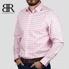 Рубашка BANANA REPUBLIC (белый\синий\красный\клетка) slim fit