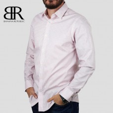 Рубашка BANANA REPUBLIC (белый\красный\клетка) slim fit