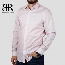 Рубашка BANANA REPUBLIC (розовый\мелкая клетка) slim fit