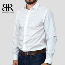 Рубашка BANANA REPUBLIC (белый\синий\клетка) slim fit