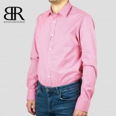 Рубашка BANANA REPUBLIC (белый\малиновый\клетка) slim flex fit