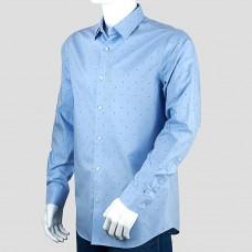 Рубашка BANANA REPUBLIC (голубой\рисунок)