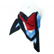Платок шейный красно-голубой