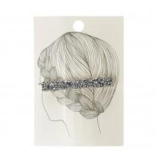 Заколка для волос(прямоугольник) серебряный цвет