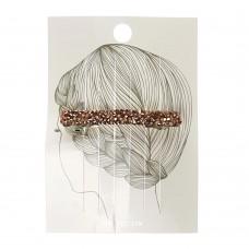 Заколка для волос(прямоугольник) медный цвет