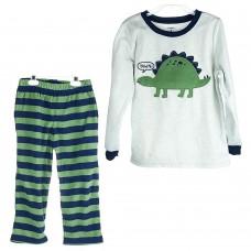 Комплект Carter's 2-ка мальчик (полоска\зелёный\синий\серый\дино) Dinosaur
