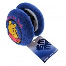 Меховые наушники складные Winnie the Pooh (синий)