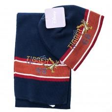 Детский набор шапка/шарф Tigger DISNEY (Синий/Коричневый/Красный / 3-4 года)